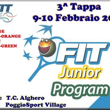 Fit junior program risultati 3^tappa tc Alghero.
