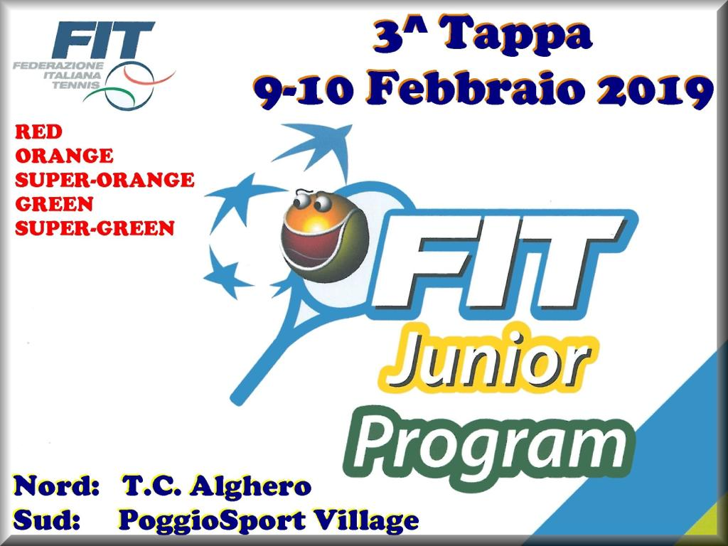 Fit junior program risultati 3^tappa tc Alghero.