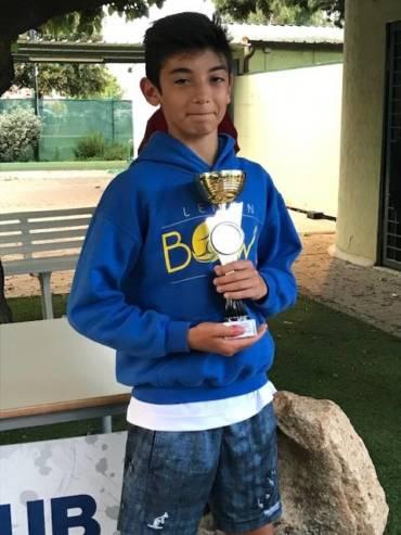 Nicolo' Serra vince circuito under 14  tc Terranova Olbia …