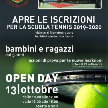 Scuola tennis 2019/20 aperte le iscrizioni !!!