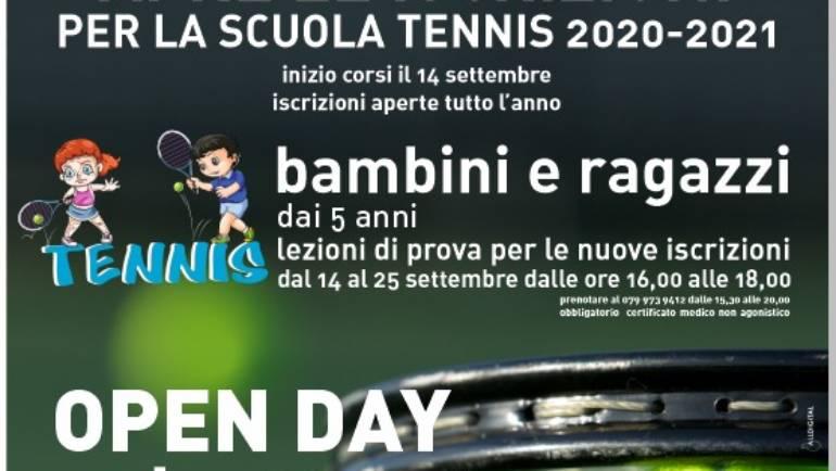 Iscrizioni scuola tennis e open day per tutti !!!